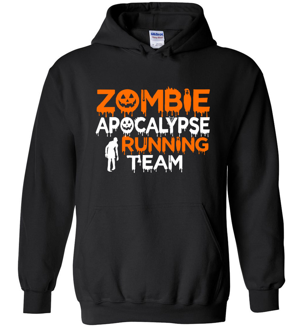 Funny Zombie Apocalypse Running Team - Halloween Costume Idea - Heavy Blend Hoodie - Make better shirt