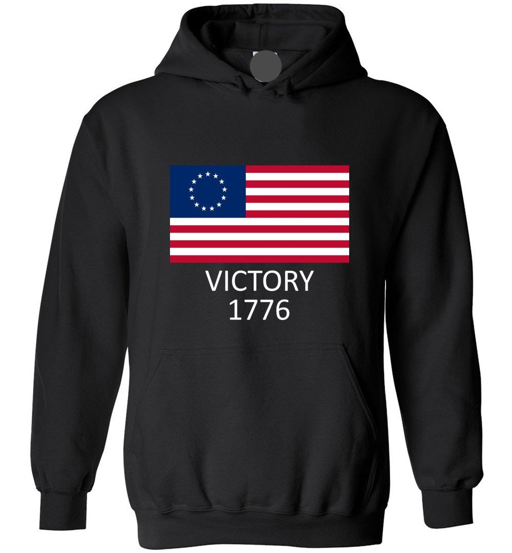 Betsy Ross Flag Symbolism American Victory 1776 - Blend Hoodie - Make better shirt