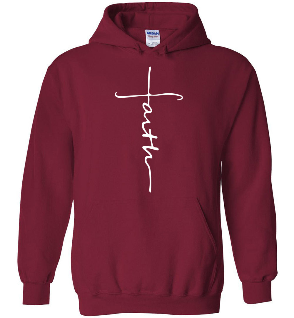 Faith Cross Hoodie Shirt Christian Hoodie for Men, Women, Kid - Make better shirt