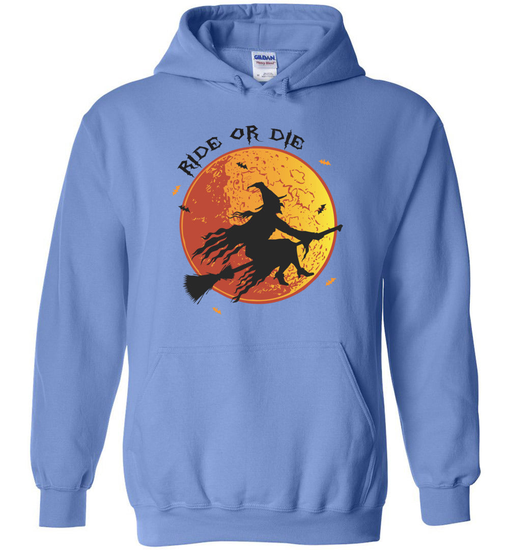 Funny Ride Or Die - Happy Halloween Men And Women Gift Idea - Heavy Blend Hoodie - Make better shirt