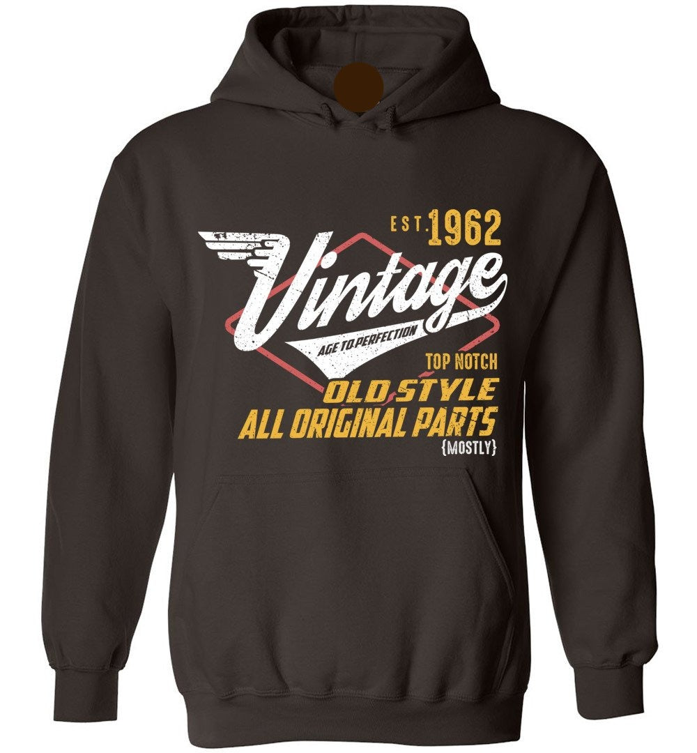 Vintage Since 1962 - 57TH Years Old Tees - Awesome Birthday Gift - Heavy Blend Hoodie - Make better shirt