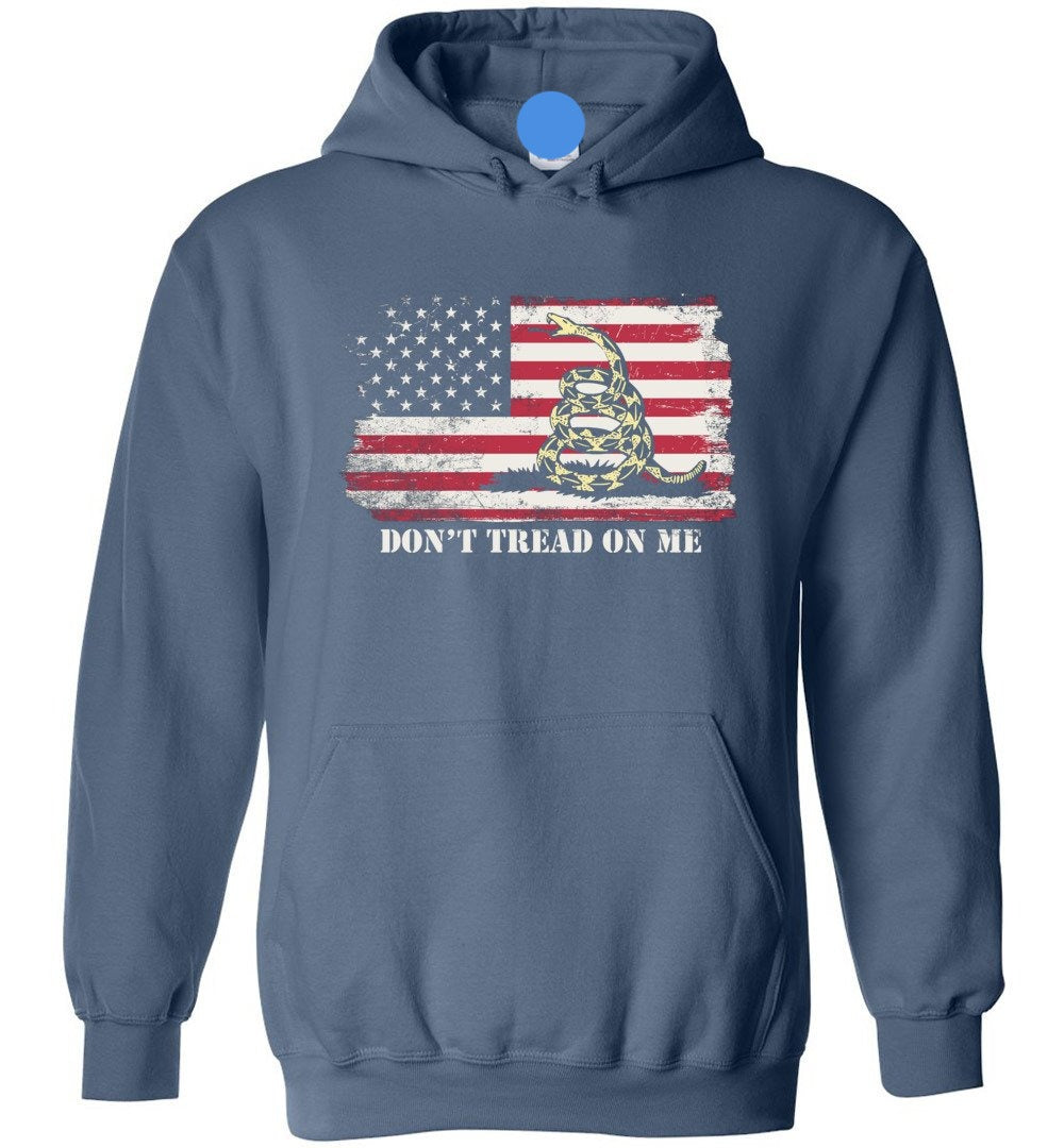 Don't Tread On Me Funny Chriss and Pratts Gadsden Flag America - Heavy Blend Hoodie - Make better shirt