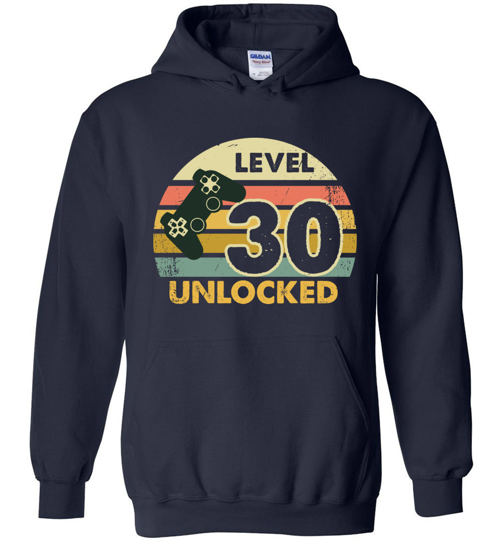 Level 30 Unlocked 30TH Birthday Gift Funny Video Game Heavy Blend Hoodie - Make better shirt