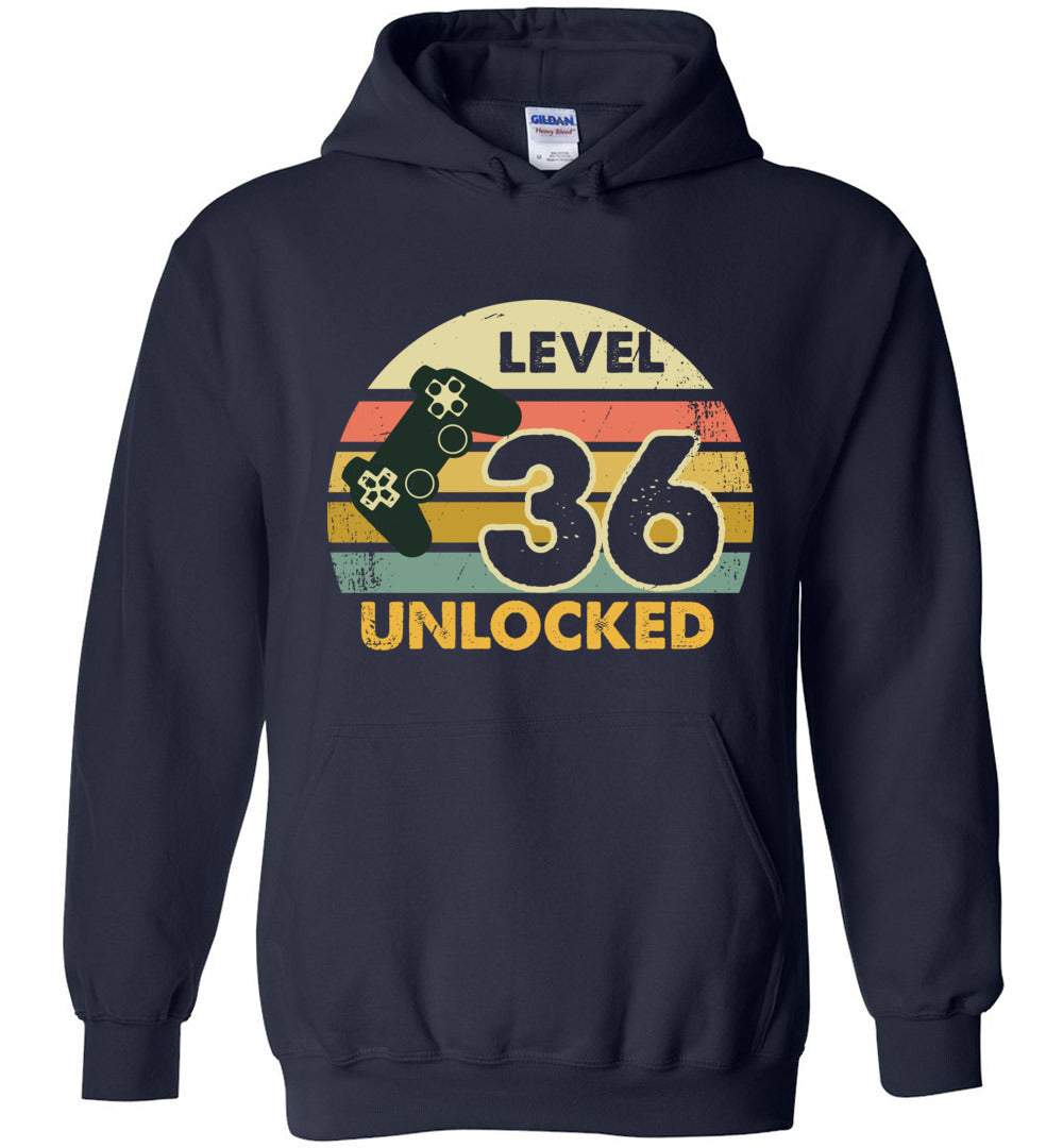 Level 36 Unlocked 36Th Birthday Gift Funny Video Game Heavy Blend Hoodie - Make better shirt