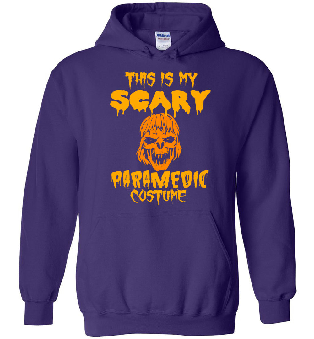 This Is My Scary Paramedic Costume - Halloween Men-Women Gift- Heavy Blend Hoodie - Make better shirt