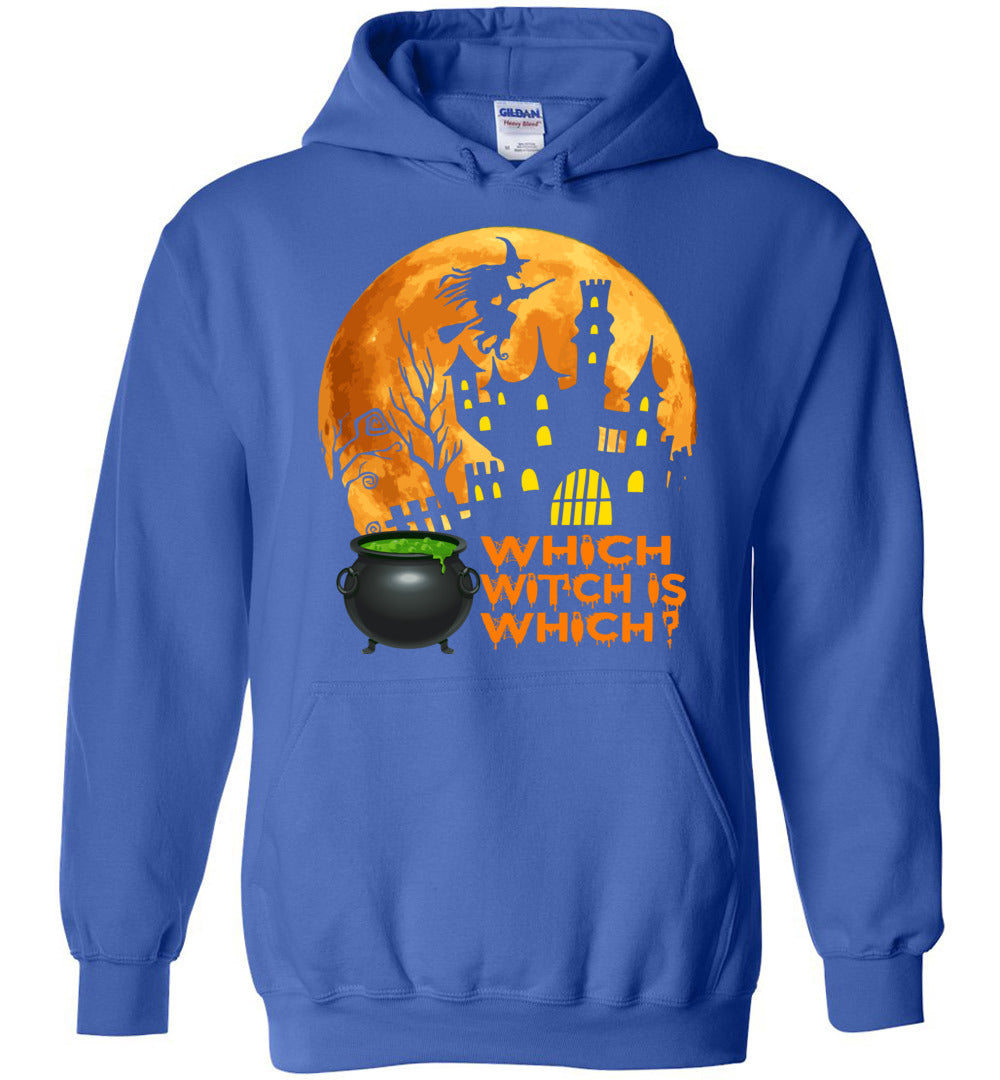 Funny Which Witch Is Which - Halloween Gift Idea For Teachers - Heavy Blend Hoodie - Make better shirt