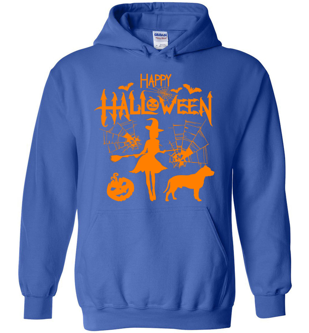 Happy Halloween Pitbull - Funny Men And Women Costume Idea - Heavy Blend Hoodie - Make better shirt