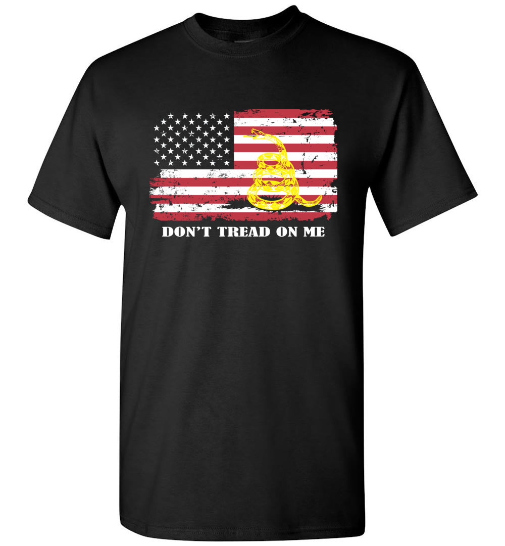 Don't Tread On Me Funny Chris Pratt Gadsden American Flag TShirt - Make better shirt