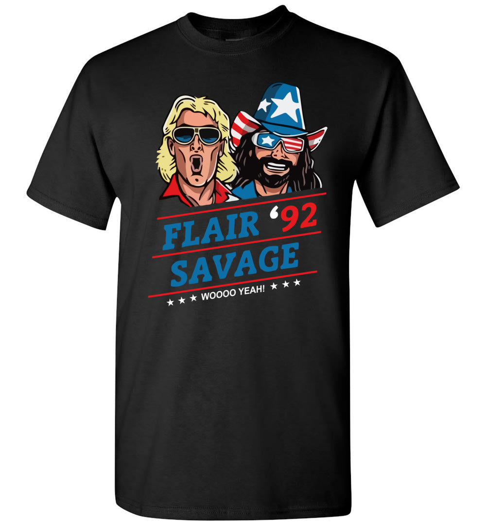 Funny - Flair 92 Savage Woo Yeah T-Shirt - Make better shirt