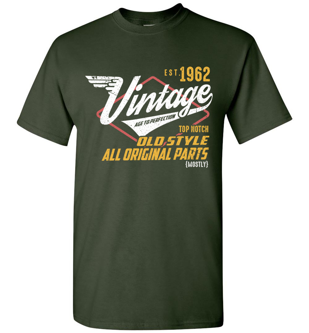 Vintage Since 1962 - 57TH Years Old Tees - Awesome Birthday Gift - Sleeve T-Shirt - Make better shirt