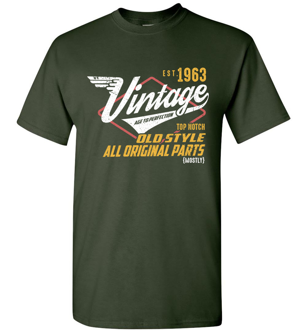 Vintage Since 1963 - 56TH Years Old Tees - Awesome Birthday Gift - Sleeve TShirt - Make better shirt