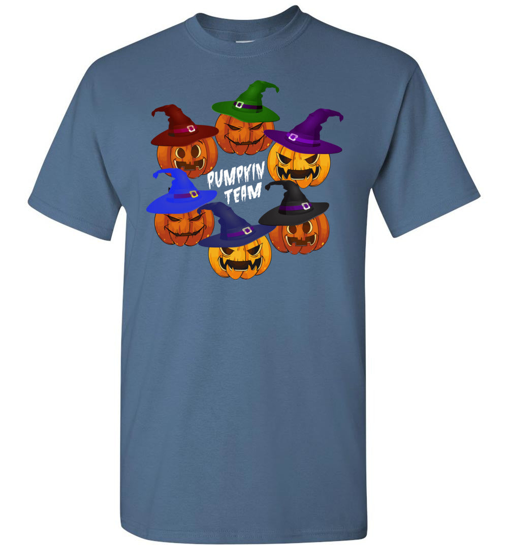 Funny Pumpkin Team - Happy Halloween Men and Women Gift Idea - Short-Sleeve T-Shirt - Make better shirt