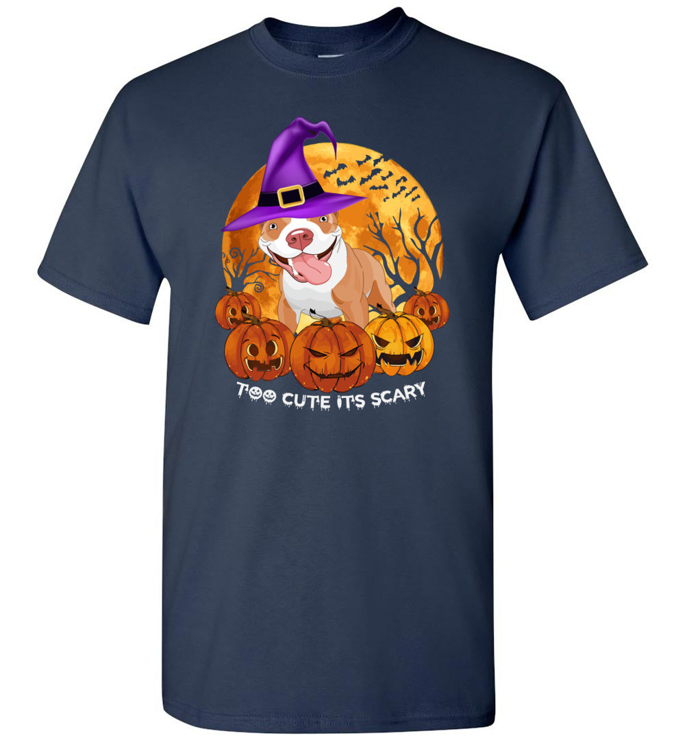 Funny Too Cute It's Scary Dog Witch - Halloween Men And Women Costume Idea - Short-Sleeve T-Shirt - Make better shirt