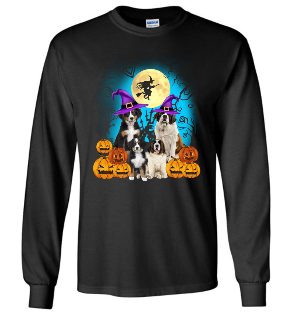 Saint Bernard - Funny Halloween Costume Idea For Dog Lovers - Long Sleeve T-Shirt - Make better shirt
