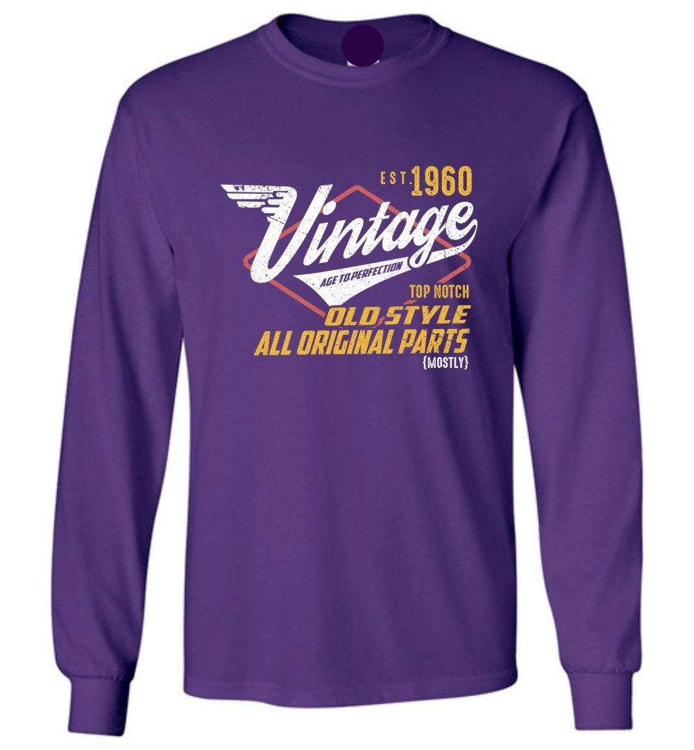 Vintage 1960 - 59TH Years Old Tees - Awesome Birthday Gift - Long Sleeve T-Shirt - Make better shirt