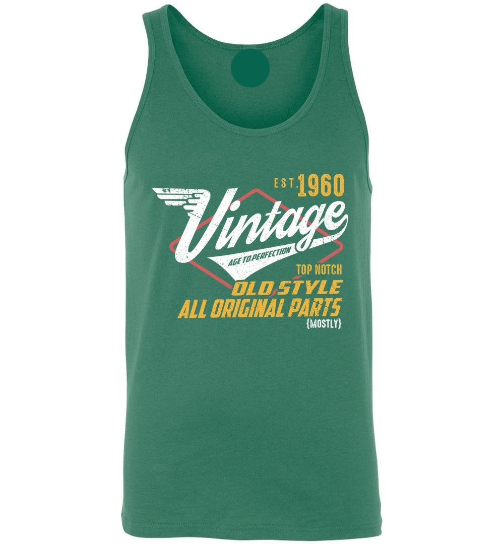 Vintage 1960 - 60 Years Old Tees - Awesome Birthday Gift - Unisex Tank Top