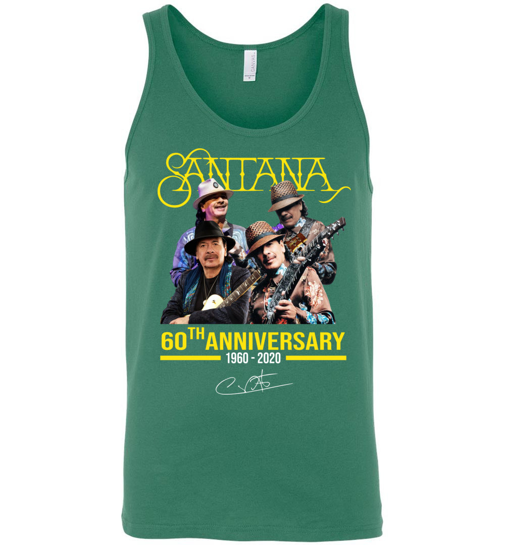 Santana 60th Anniversary T-Shirt, Thank You For The Memories - Unisex Tank Top - Make better shirt