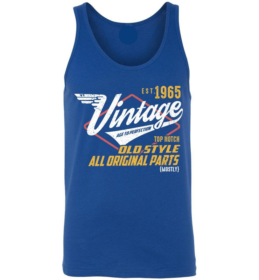 Vintage Since 1965 - 54TH Years Old Tees - Awesome Birthday Gift - Unisex Tank Top - Make better shirt