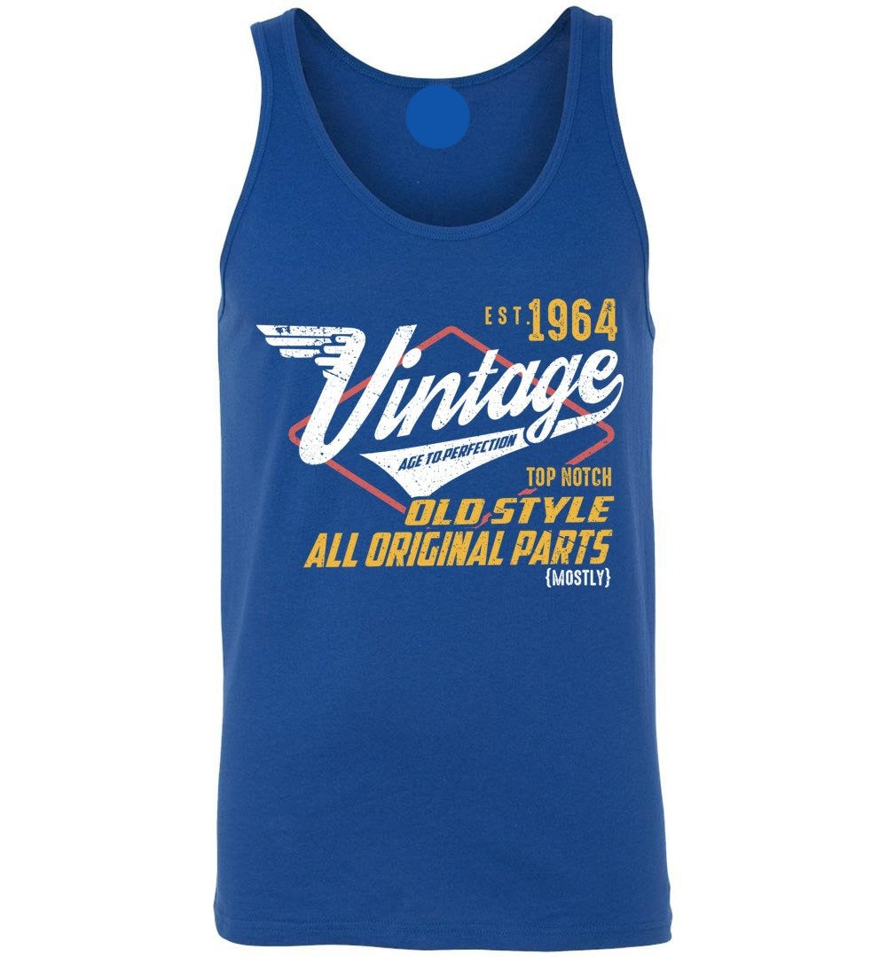 Vintage 1964 - 55TH Years Old Tees - Awesome Birthday Gift - Unisex Tank Top - Make better shirt