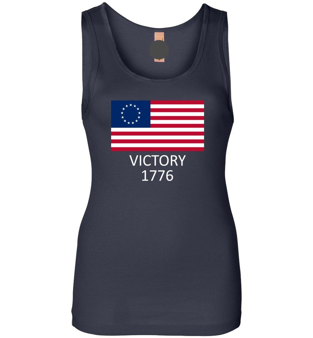 Betsy Ross Flag Symbolism American Victory 1776 - Womens Jersey Tank Top - Make better shirt