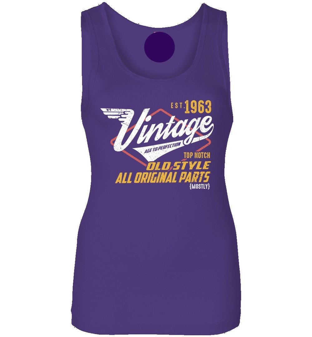Vintage Since 1963 - 56TH Years Old Tees - Awesome Birthday Gift - Womens Jersey Tank Top - Make better shirt