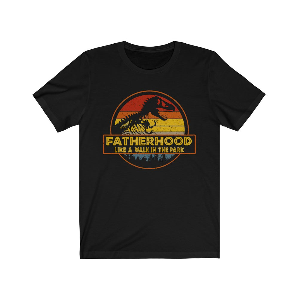 fatherhood like a walk in the park vintage retro sunset T-Shirt - Make better shirt