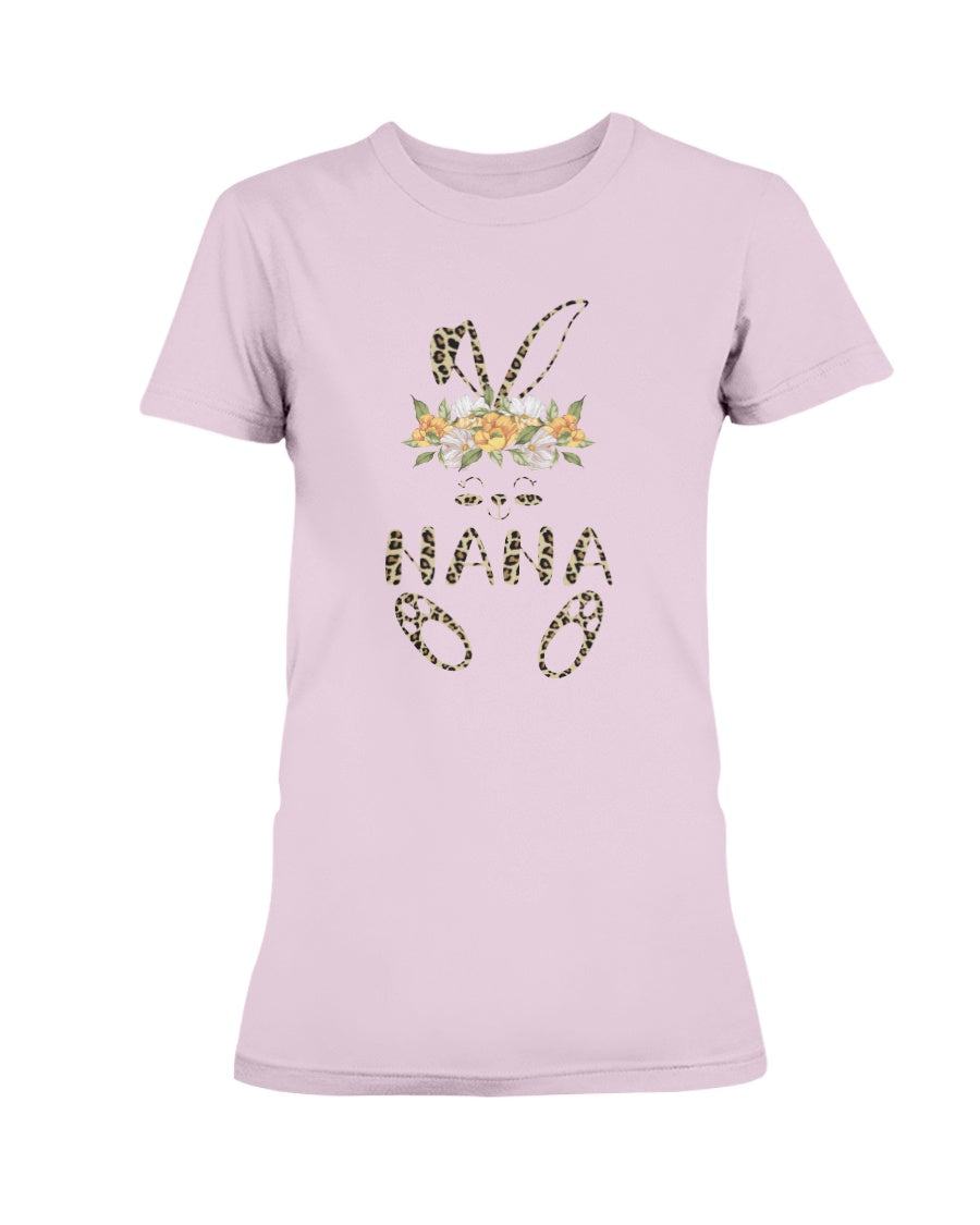 Leopard Bunny Nana Easter Day Rabbit Eggs Costume Gift - Women T-Shirt