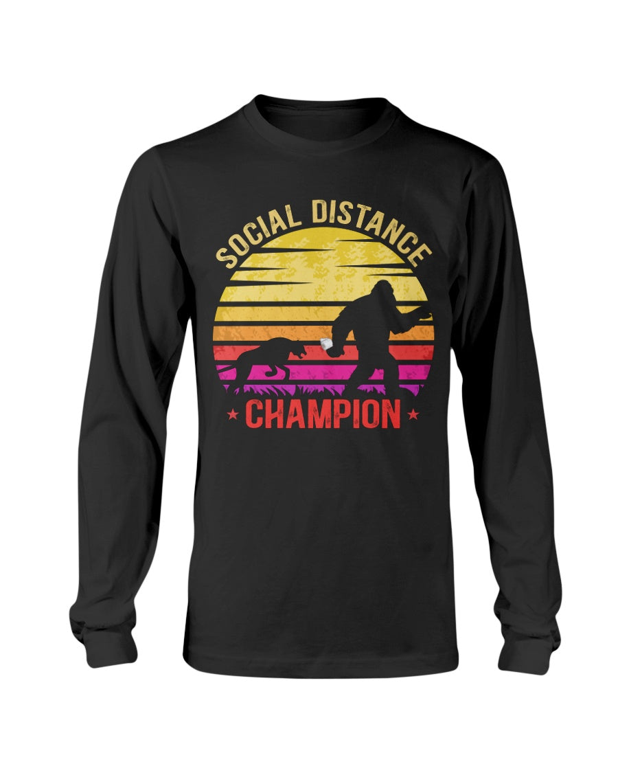 BigFoot Sasquatch Social Distance Champion - Long Sleeve T-Shirt