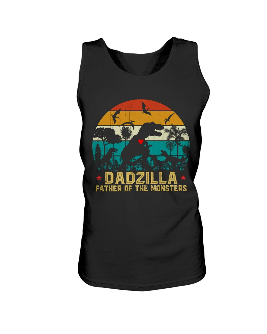 Vintage Dadzilla Father Of The Monsters Funny Father's Day Dinosaur Lovers Gift