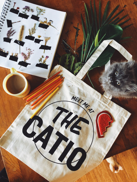 Meet Me At The Catio Tote Bag