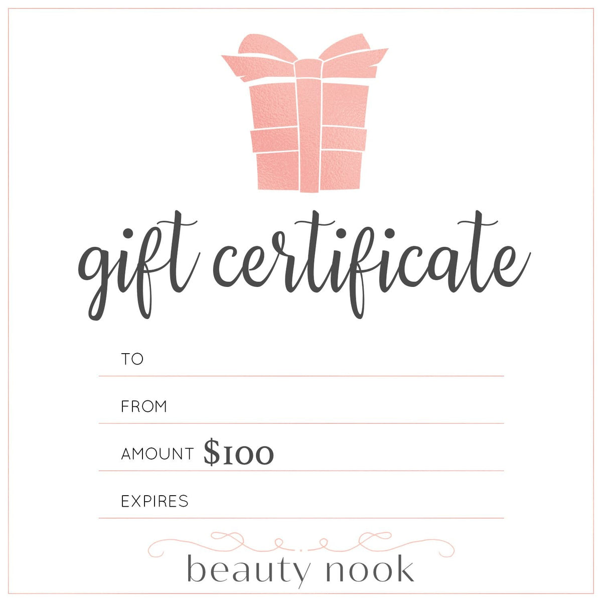 $100 Gift Card - Beauty Nook