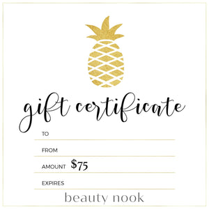 $75 Gift Card - Beauty Nook