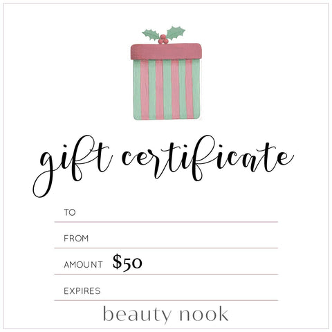 XMAS Gift Card - Beauty Nook