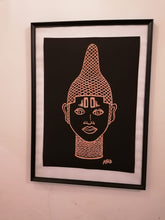 Load image into Gallery viewer, IYOBA Ancient African Inspired A2 Giclée Art Print in Rose gold