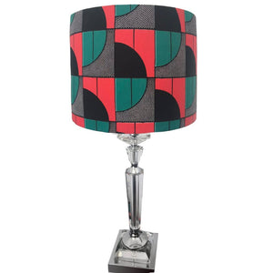 AFROBRIT BOLD SEMI ARCS AFRICAN TEXTILE LAMPSHADE
