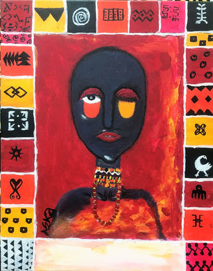 ABOVE STANDARDS Acrylic paint on canvas