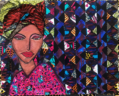 ANKARA SHAKARA Recycled Ankara Fabric Art