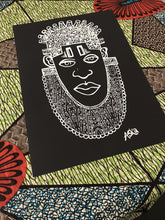 Load image into Gallery viewer, IDIA Ancient African Inspired Art Print in Black