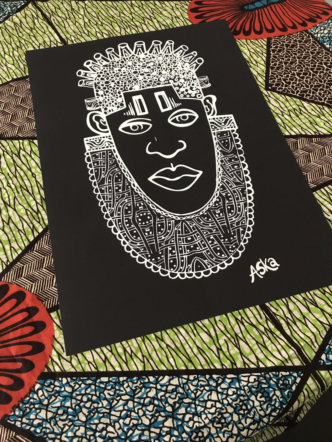 IDIA Ancient African Inspired Art Print in Black