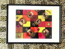 Load image into Gallery viewer, TIMELESS Recycled Ankara Fabric Art