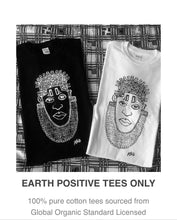 Load image into Gallery viewer, IDIA ART EARTH POSITIVE TEE- BLACK ON WHITE