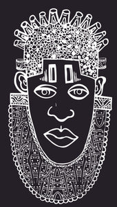 IDIA Ancient African Inspired A2 Giclée Art Print in Black
