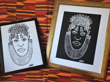 Load image into Gallery viewer, IDIA Ancient African Inspired A3 Giclée Art Prints in Black & White