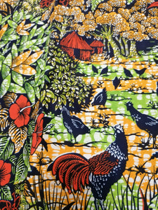 MOLOKAI: VLISCO PREMIUM SUPER WAX PRINT PATTERN FABRIC (2 YARDS BUNDLE)