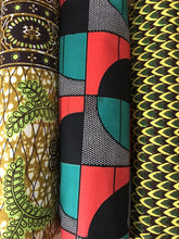 Load image into Gallery viewer, AFROBRIT BOLD SEMI ARCS AFRICAN TEXTILE LAMPSHADE