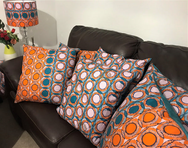 AFROBRIT FUSION CUSHION + FREE LAMPSHADE SET
