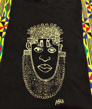 Load image into Gallery viewer, IDIA IN GOLD ART EARTH POSITIVE TEE- SCOOPED NECK
