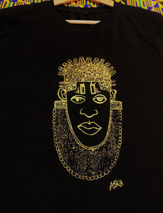 IDIA ART EARTH POSITIVE TEE-GOLD ON BLACK