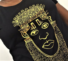 Load image into Gallery viewer, IDIA ART EARTH POSITIVE TEE-GOLD ON BLACK