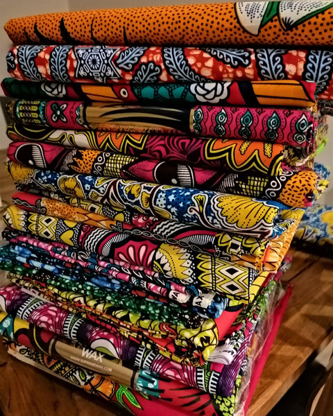 SUPREME AFRICAN WAX PATTERN PRINT FABRIC 5 METERS WHOLESALE BUNDLE